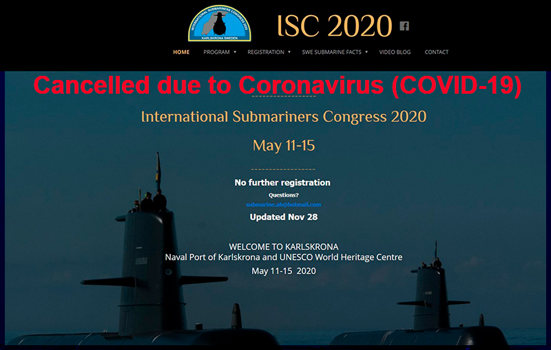 Submariners Convention 2020 in Karlskrona / Sweden